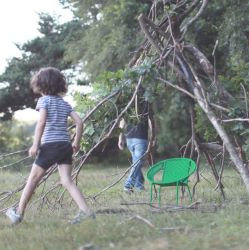 Fauteuil enfant vert