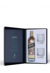 Coffret Johnnie Walker Blue Label 40% (bouteille + 2 verres)