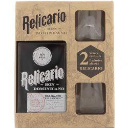 Coffret Relicario 40% (bouteille + 2 verres)