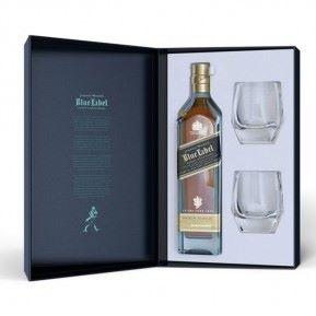 Coffret Johnnie Walker Blue Label 40% (bouteille + 2 verres)