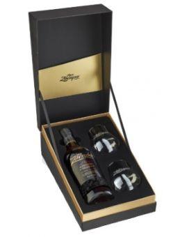 Coffret Zacapa Edicion Negra 43% (bouteille + 2 verres)