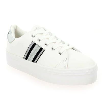 Sneakers FEMME NO NAME blanc/silver