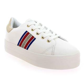 Sneaker NO NAME PLATO DERBY blanc/rouge