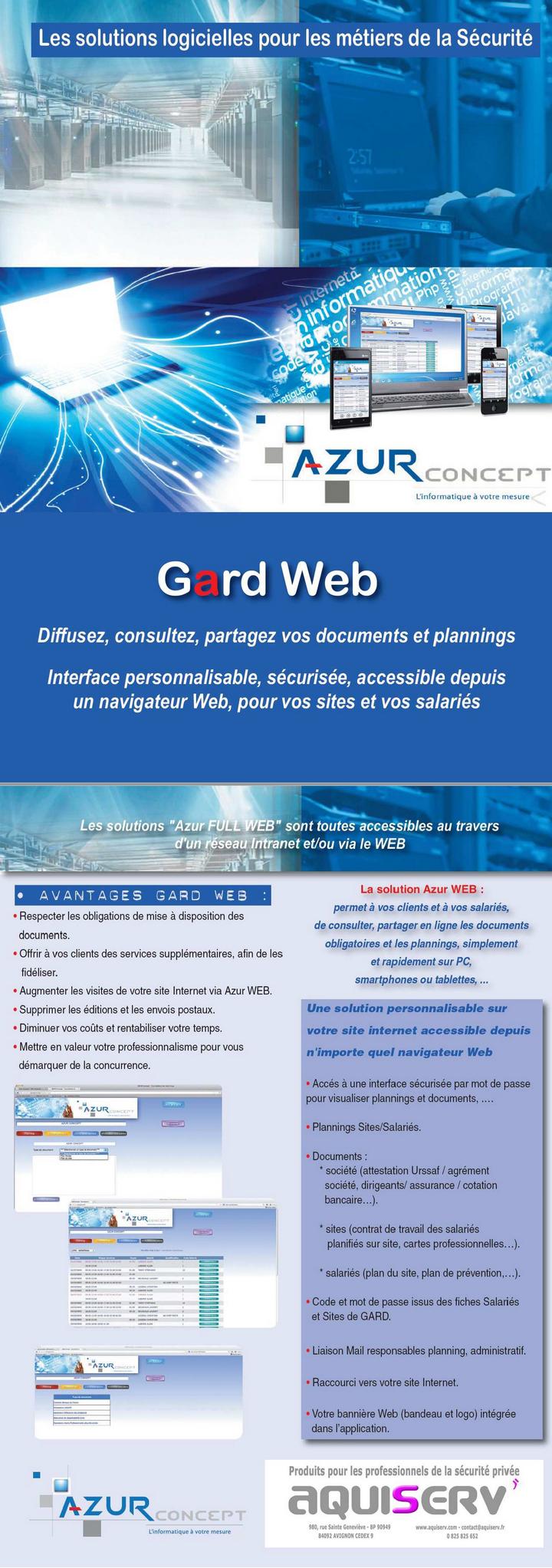 Logiciel de de planning sur le web