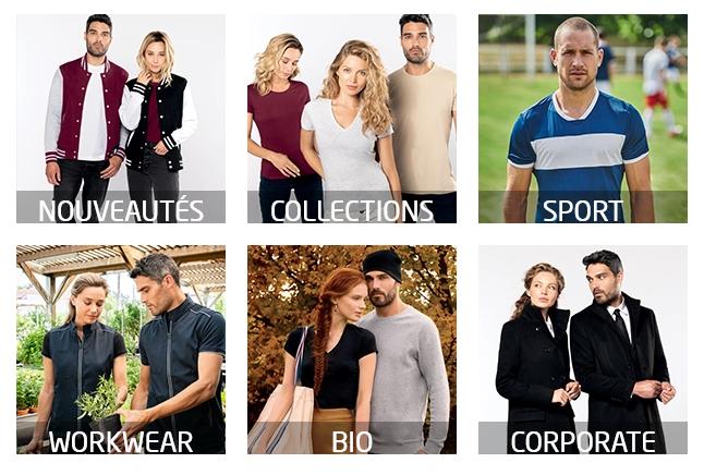 Catalogue complet de textiles professionnels