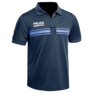 Polo bleu marine manches courtes Police Municipale