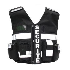 Gilet de sécurité haute visibilité  THOR noir