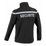 Blouson softshell SECURITE Noir bande grise