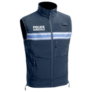 Gilet softshell sans manches Police Municipale