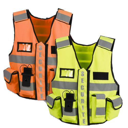 Gilet de sécurité haute visibilité THOR jaune ou orange