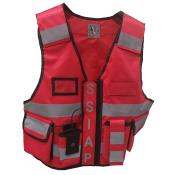 Gilet de sécurité haute visibilité THOR rouge