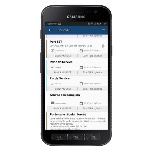Main courante sur smartphone ou tablette