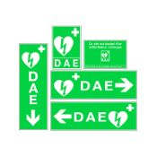 Jeu complet de signalétique murale défibrillateur (DAE) - Vinyle