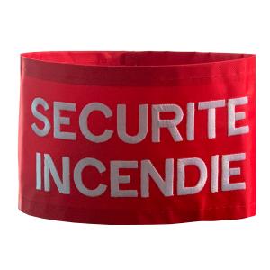 Brassard SÉCURITÉ INCENDIE rouge