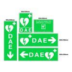 Jeu complet de signalétique murale défibrillateur (DAE) - PVC