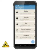 Mobile GSM d'Urgence PTI/DATI Tactile / GPS / Robuste /  IP68