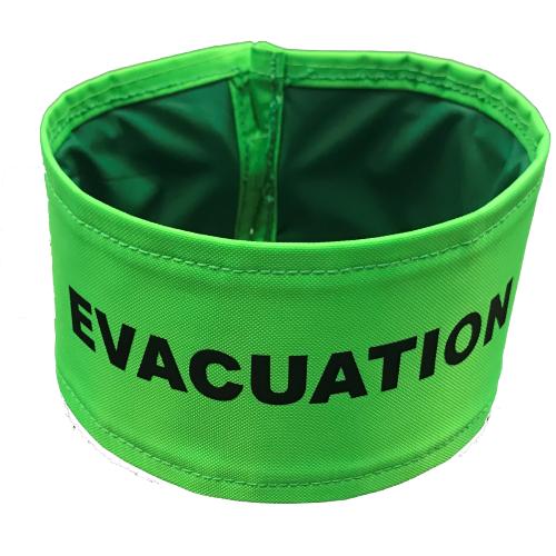 Brassard EVACUATION vert