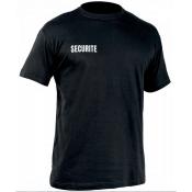 T-shirt SECURITE noir - Marquage face droite et dos