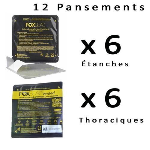 Pack de 12 Pansements 6 thoraciques  + 6 étanches