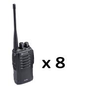 Pack 8 Portatifs radio MIDLAND - G10 PRO