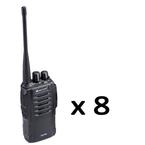 Pack 8 Portatifs radio - G10 PRO