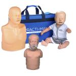 Pack 3 Mannequins de formation RCP : Adulte + Enfant + Nourrisson - Version économique