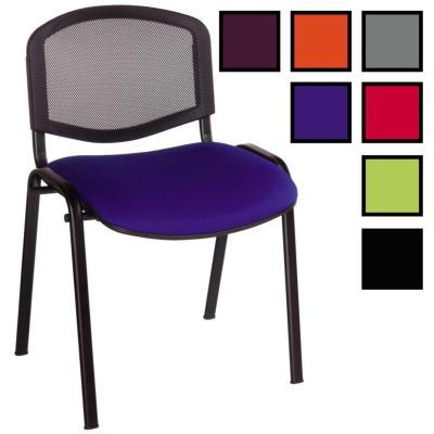 BALEIX - Chaise empilable multi-usage - Bleue/Noire