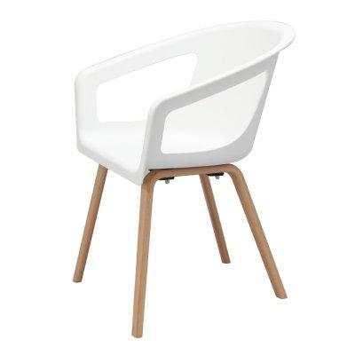AVEIRO - Chaise visiteur bois et plastique