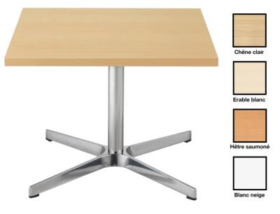 VARKAUS - Table basse carrée piètement chromé