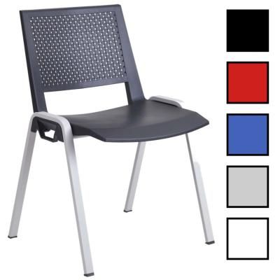 STAINS - Chaise plastique empilable dossier aéré
