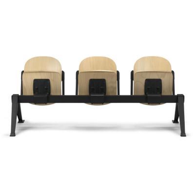 CAEN - Chaise bois sur poutre strapontin rabattable