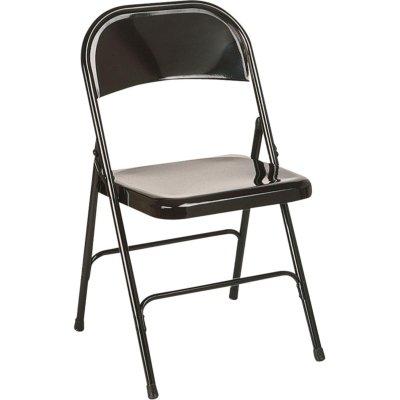 DOUAI - Chaise pliante en métal noire