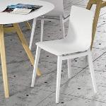 YONGIN - Chaise réunion design en bois