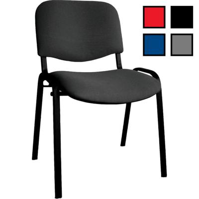 LAON - Chaise de réunion empilable en tissu - Noire