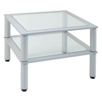 TIBU - Table basse carrée double plateau