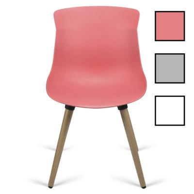 MALAMBO - Chaise d'accueil en bois et polypropylène