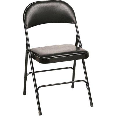 LANDES - Chaise pliante en acier et vinyle
