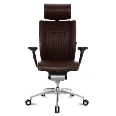 TITAN Confort - Fauteuil de bureau président en cuir Wagner - Marron