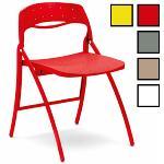 GUNPO - Chaise pliable en acier et plastique