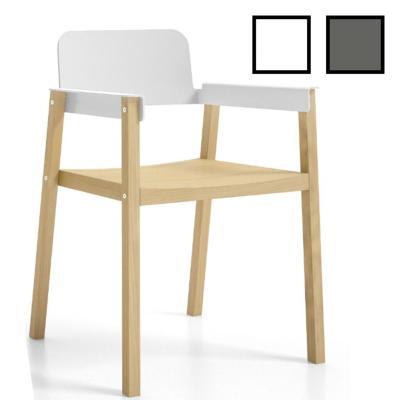 SUWON - Chaise réunion design en hêtre massif