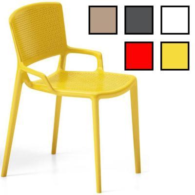 GIMPO - Chaise de réunion design - Sans Accoudoirs Jaune