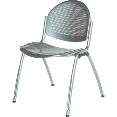 MIKKELI - Chaise réunion en métal perforée