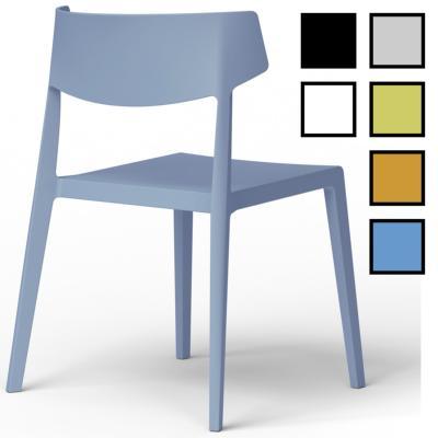 CHINY - Chaise 4 pieds design - Blanche Sans Matelassage