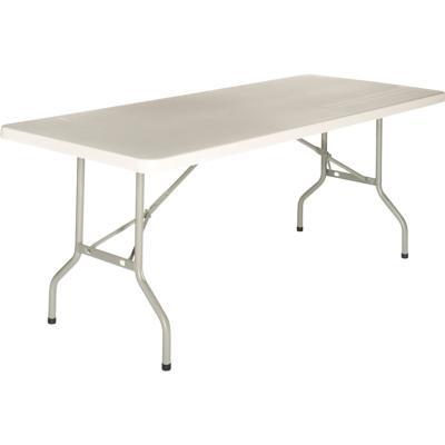 TULLE B - Table pliante blanche en plastique