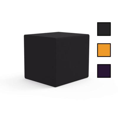 OULU - Pouf d'accueil carré 40 x 40 cm - Gris souris