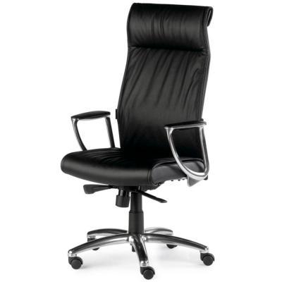 SETE - Fauteuil de bureau en cuir noir