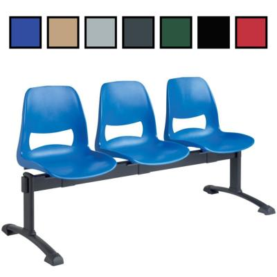 MILLAU - Chaise coque en plastique sur poutre 2 à 4 places