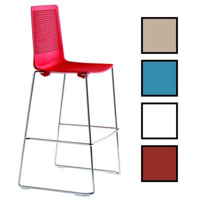 GUALTA HAUTE - Chaise haute traineau - Rouge