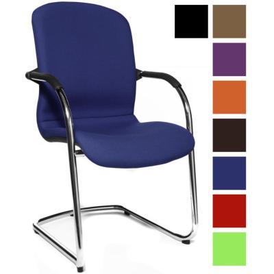 OTA - Siège visiteur tissu design cocooning - Bleu