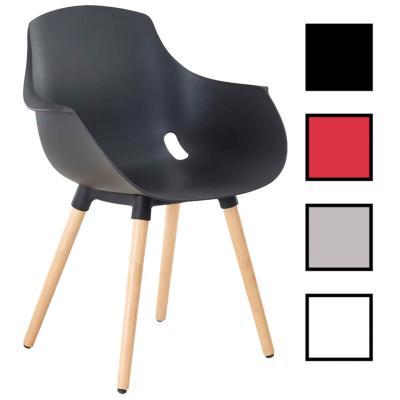 DAIX BOIS - Chaise visiteur polypropylène et bois - Noire